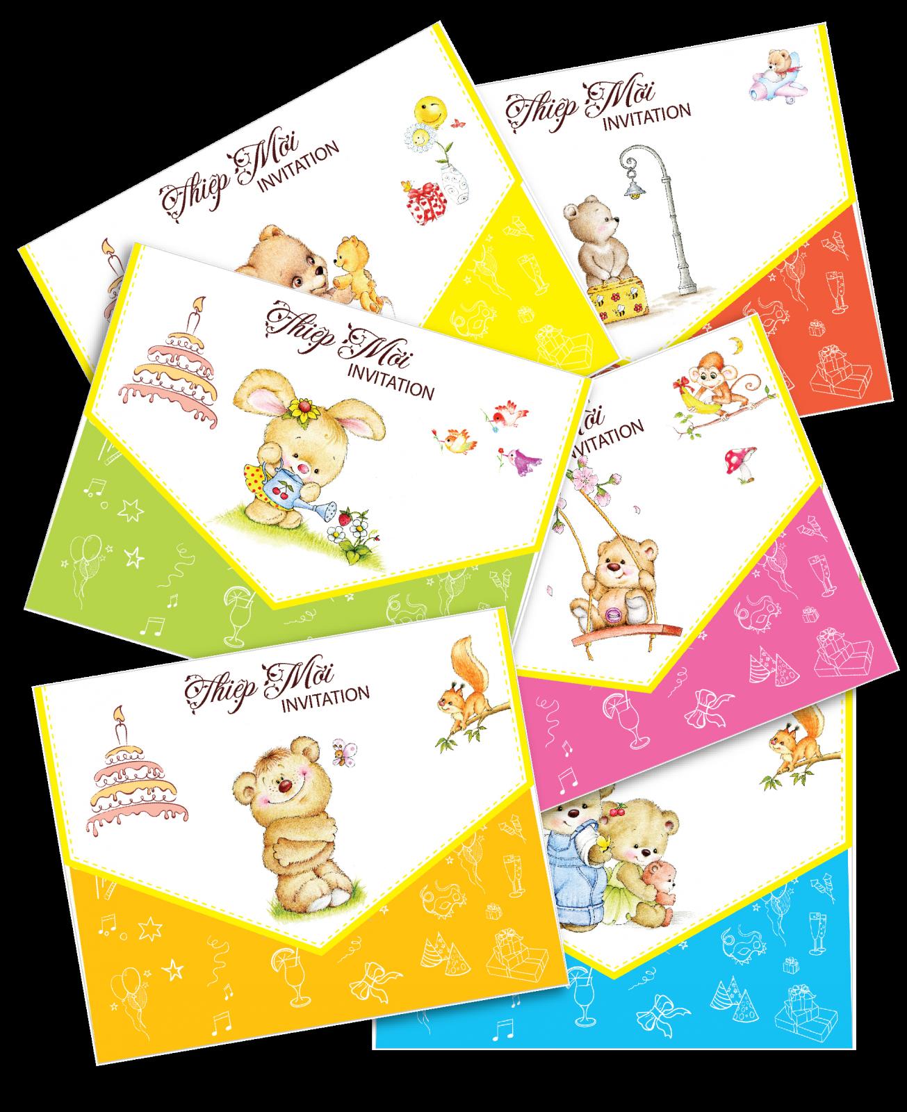 Bear Picture Invitation Card